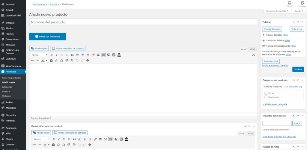 Cómo añadir un producto en WooCommerce, instalar y configurar woocommerce