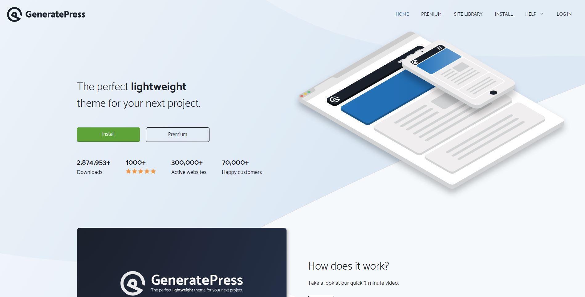 Tema GeneratePress compatible con Elementor