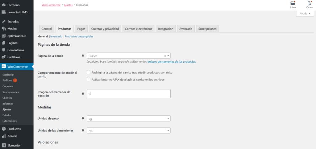 Pinstalar y configurar woocommerce página de la tienda en WooCommerce